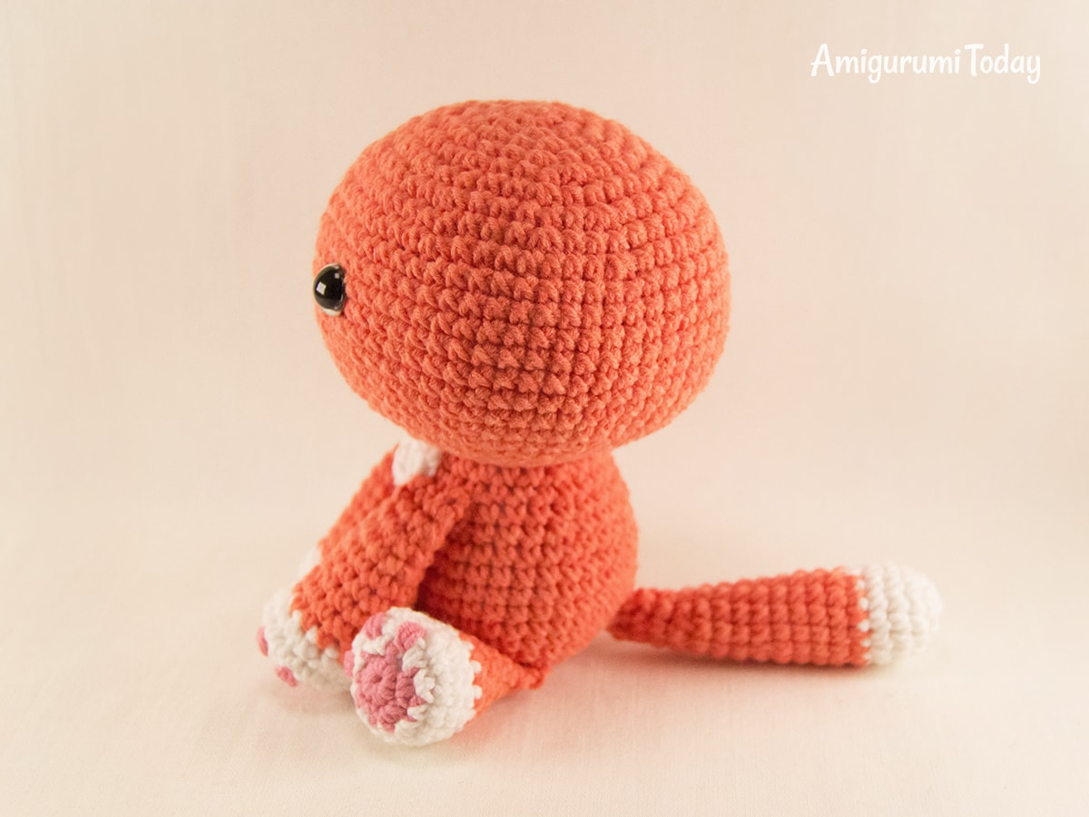 Ginger cat amigurumi pattern - Assembly