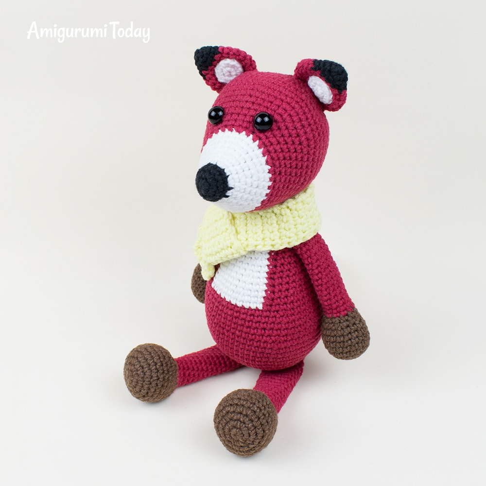 Crochet red fox pattern by Amigurumi Today