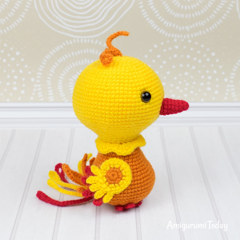 Nixy the Phoenix amigurumi pattern by Amigurumi Today