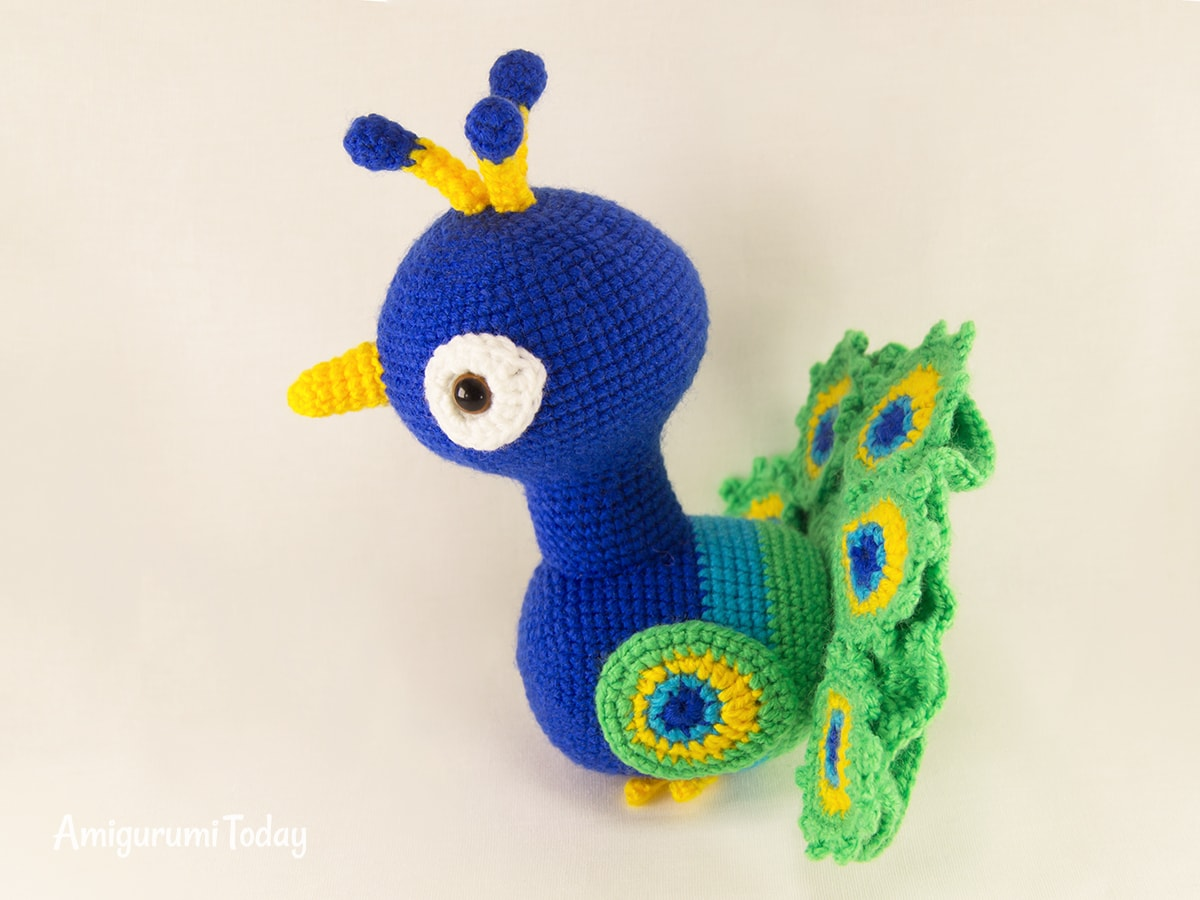 Paco the Peacock - Free amigurumi pattern