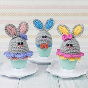 Free Easter Crochet Pattern - Bunny Egg Cozy by Amigurumi Today