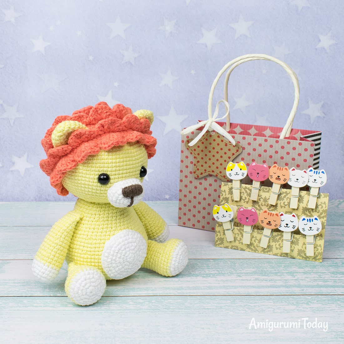 Leo the Lion amigurumi - Free crochet pattern by Amigurumi Today