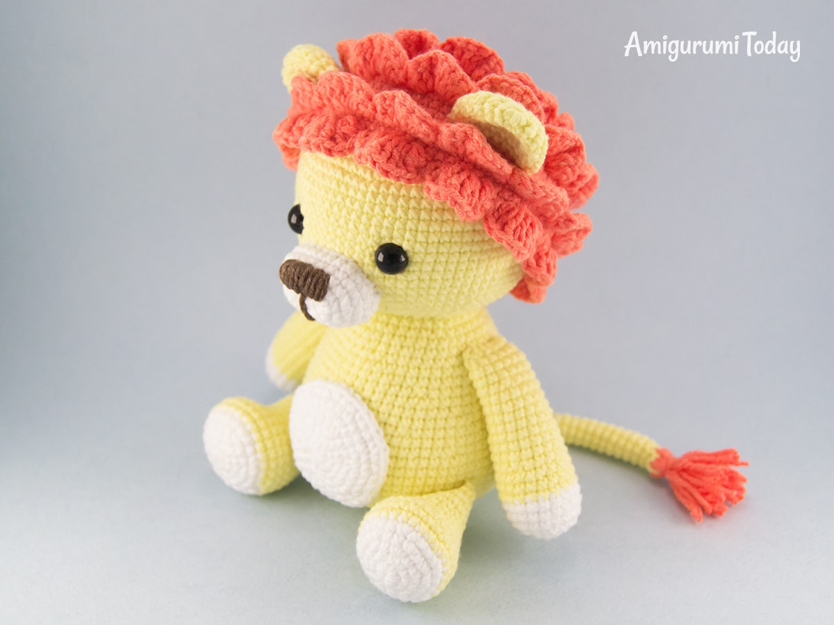 Leo the Lion amigurumi pattern by Amigurumi Today
