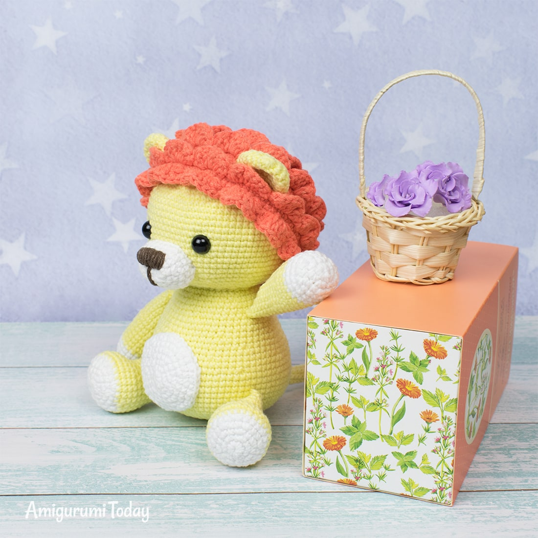 Leo the Lion crochet pattern by Amigurumi Today