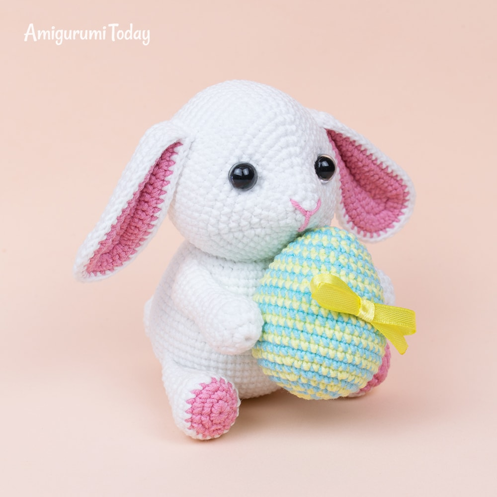 Amigurumi bunny with Easter egg - Amigurumi Today