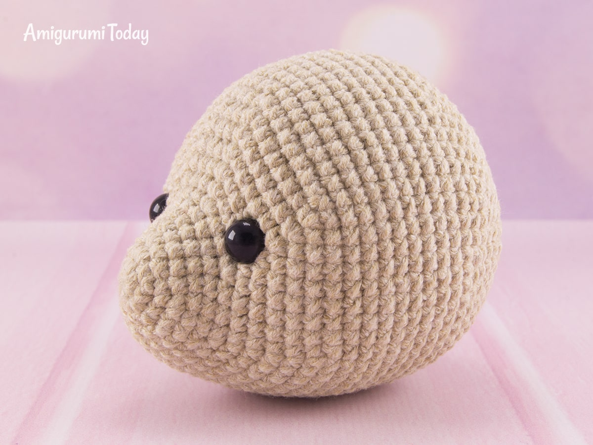 Blackberry bear amigurumi pattern - Head