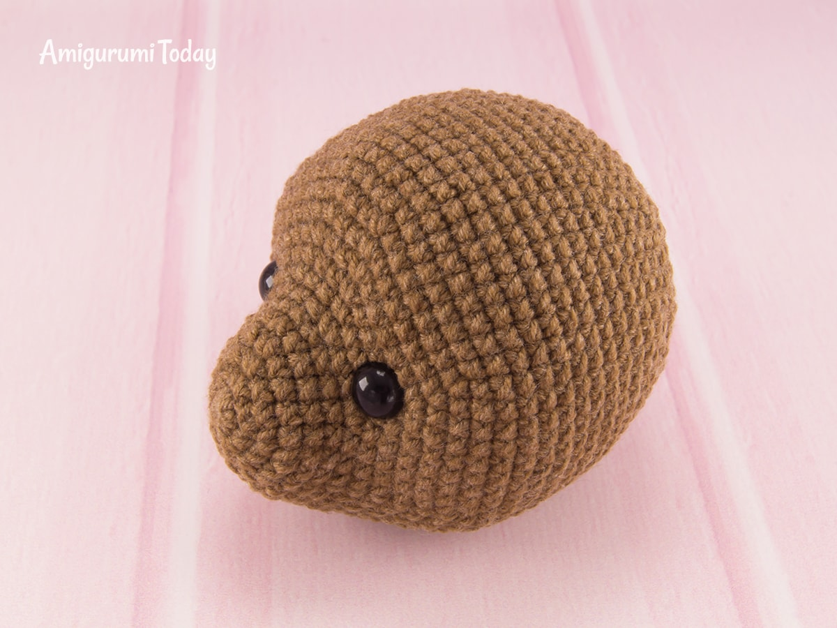 Raspberry Bear Crochet Pattern - Head