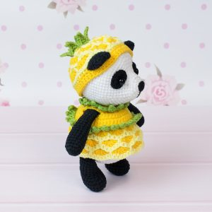 Pineapple Panda crochet pattern 1