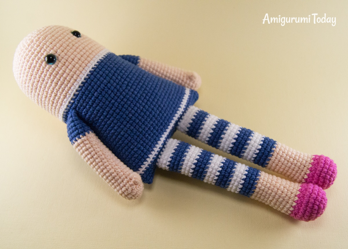 Crocheted rag doll amigurumi pattern