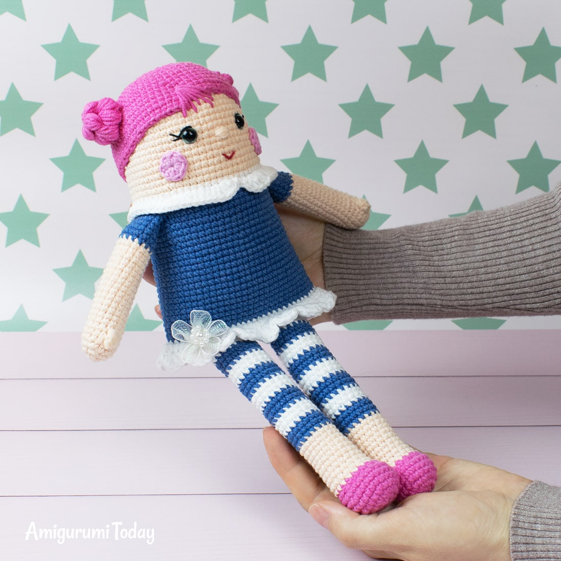 Free crocheted rag doll amigurumi pattern by Amigurumi Today