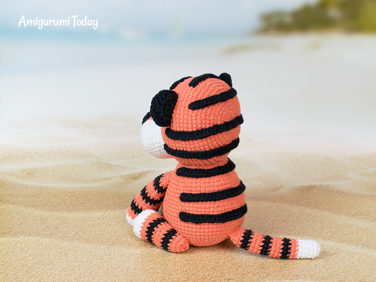 Free tiger crochet pattern by Amigurumi Today