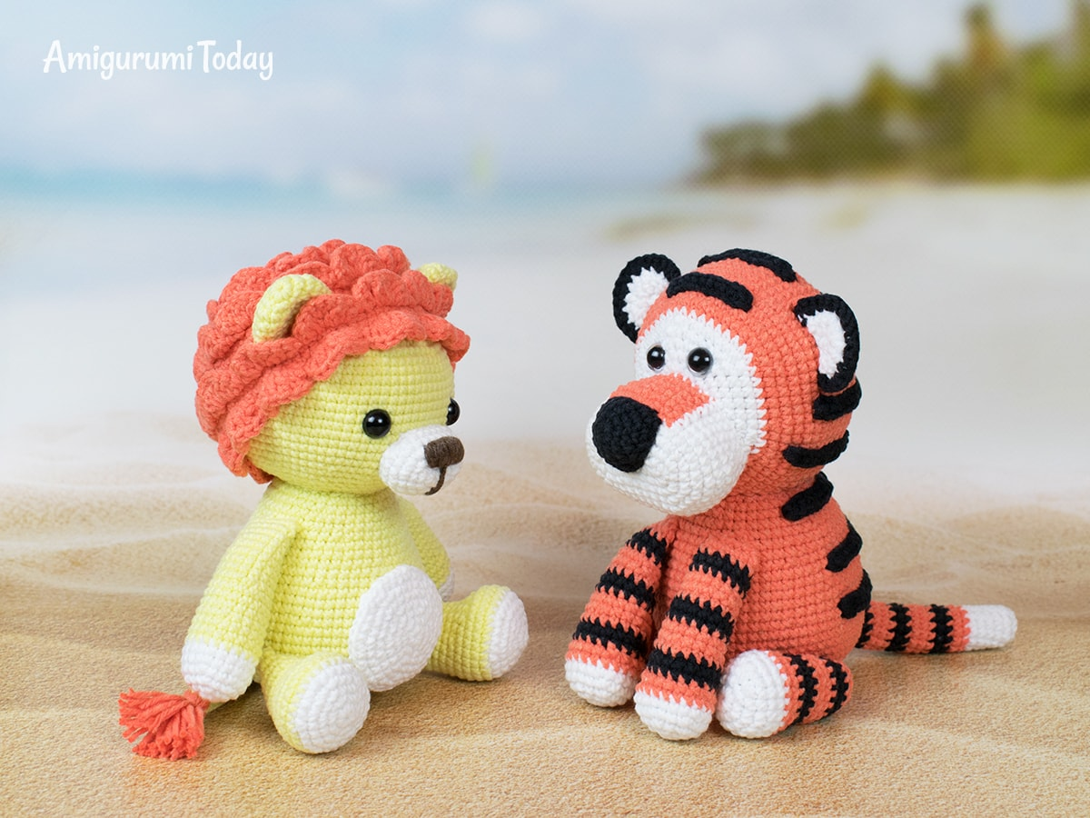Romeo the Tiger crochet pattern by Amigurumi Today
