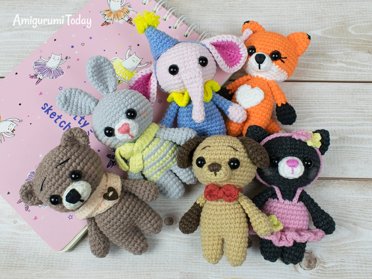 Crochet tiny elephant amigurumi pattern by Amigurumi Today