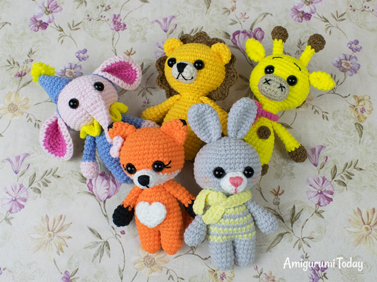 Free tiny animal amigurumi patterns by Amigurumi Today