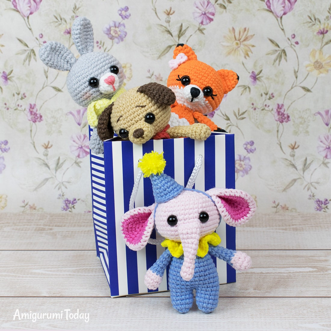 Free tiny elephant amigurumi pattern by Amigurumi Today