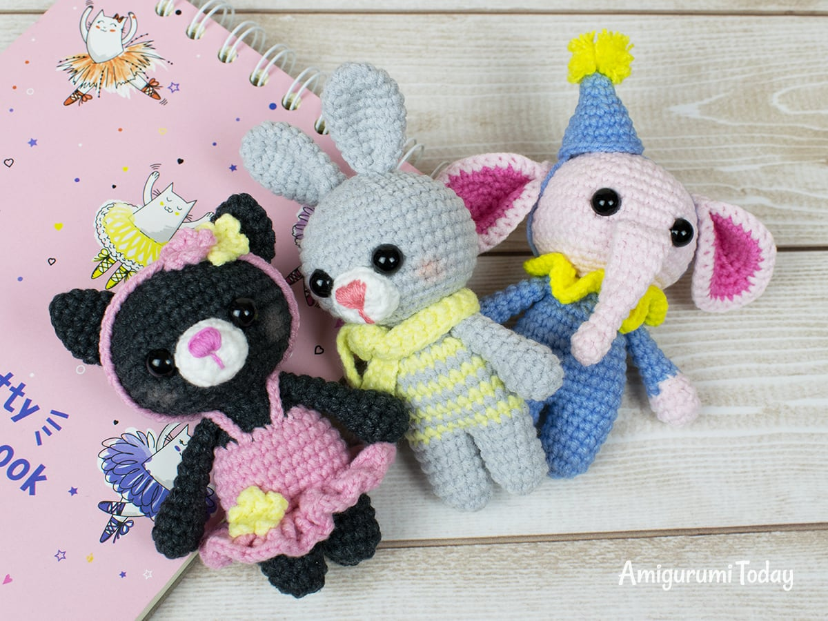 Free tiny elephant crochet pattern by Amigurumi Today