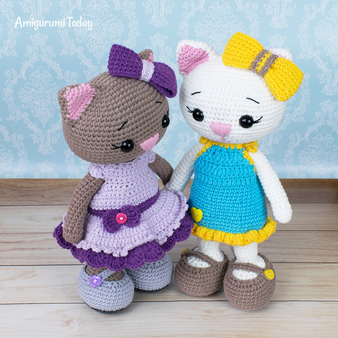 Amigurumi cat dolls - Free crochet patterns by Amigurumi Today