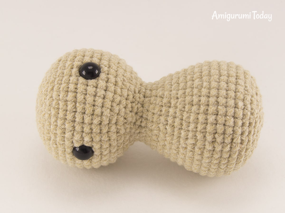 Little crochet bunny pattern - Head and body