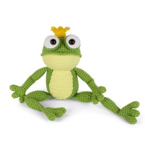 Amigurumi Frog Prince crochet pattern designed by Amigurumi Today
