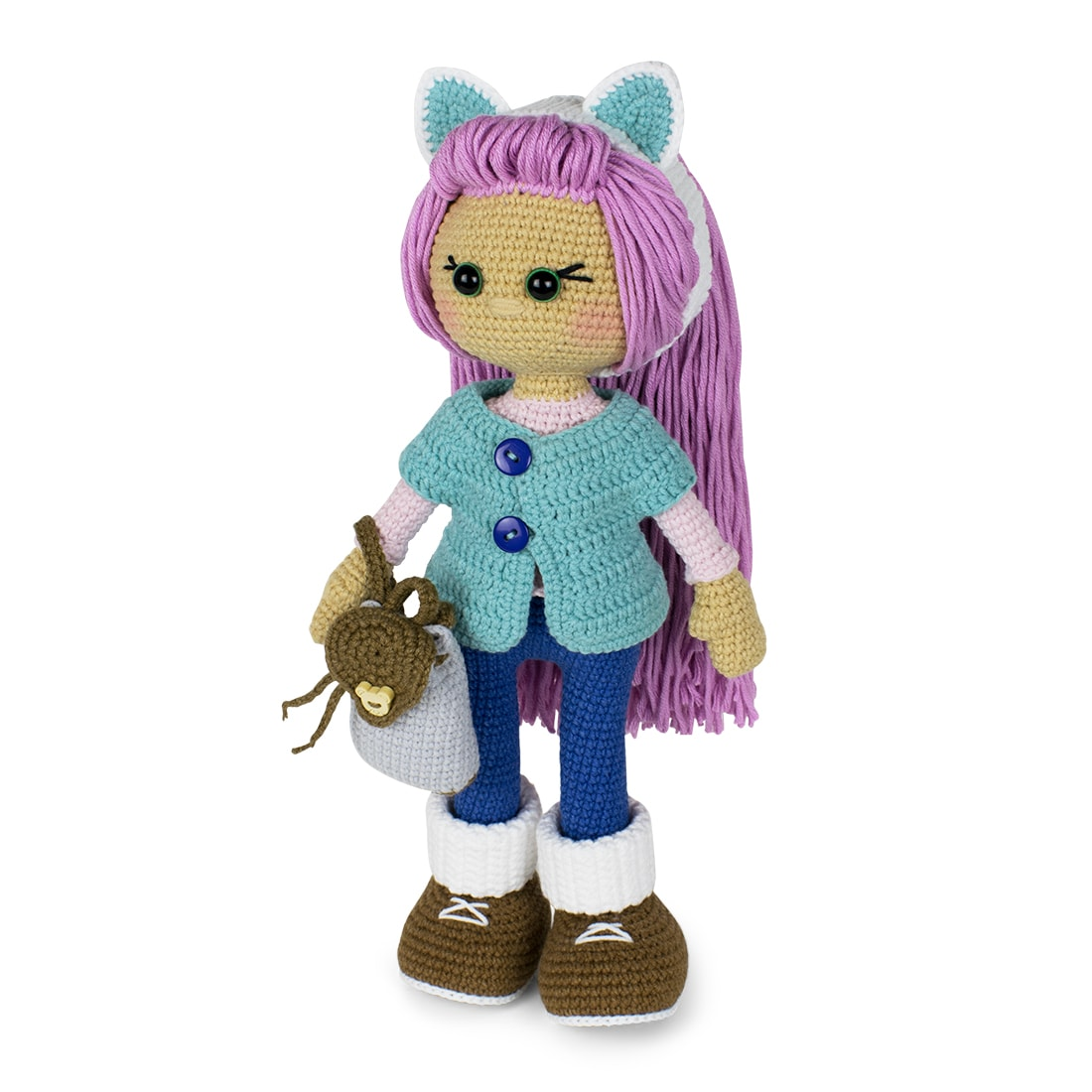 Crochet Molly Doll amigurumi pattern designed by Amigurumi Today
