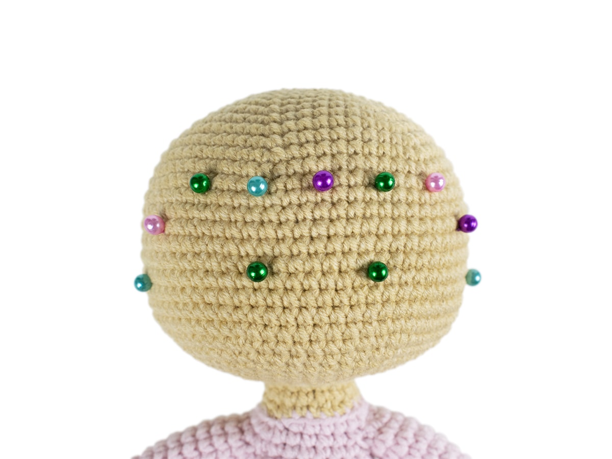 Free Molly Doll crochet pattern - Head
