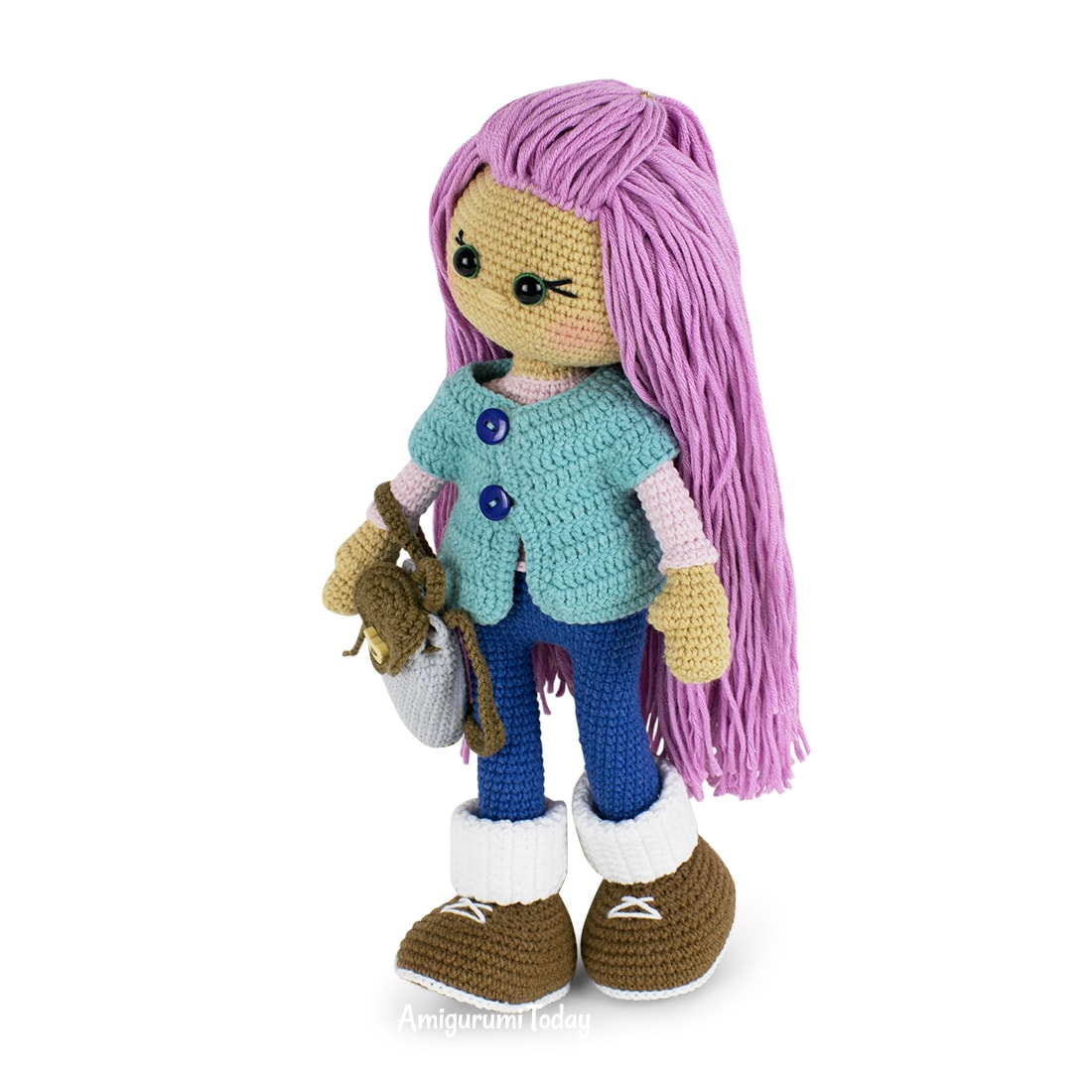 Free Molly Doll crochet pattern designed by Amigurumi Today
