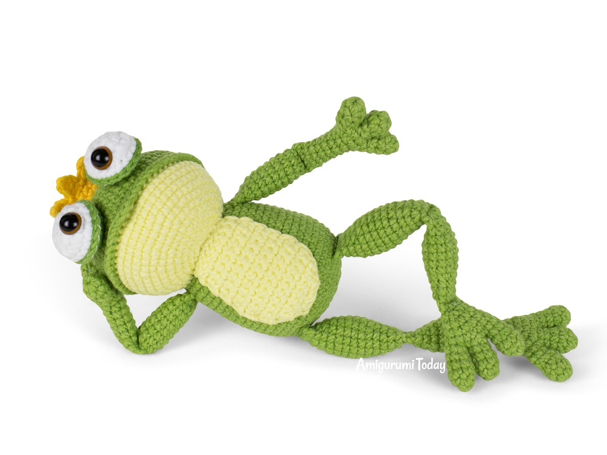 Free crochet Frog Prince amigurumi pattern designed by Amigurumi Today