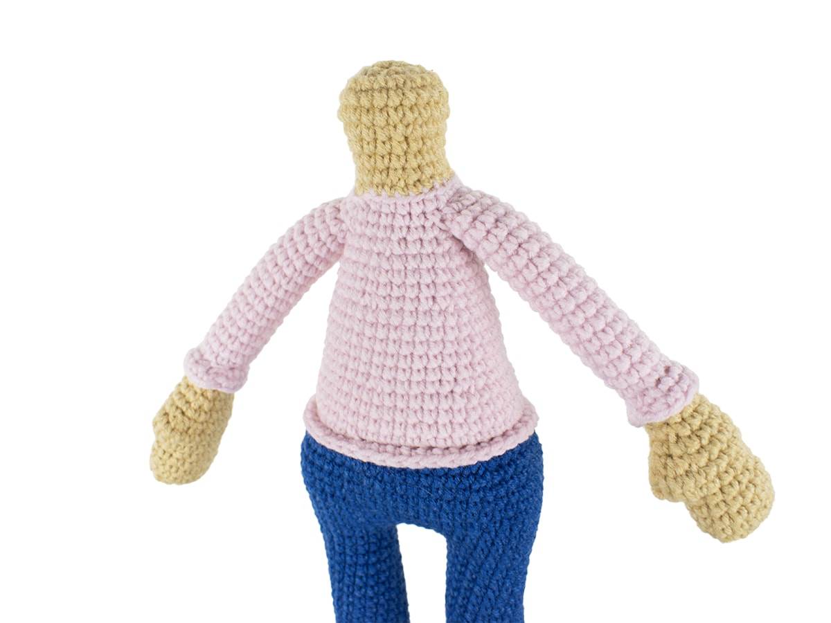 Molly Doll crochet pattern - Neck joint