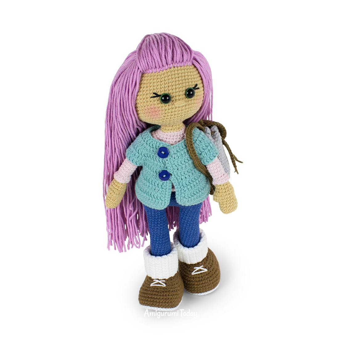 Molly Doll crochet pattern designed by Amigurumi Today
