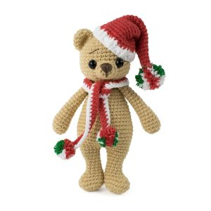 Christmas amigurumi bear - Free crochet pattern by Amigurumi Today