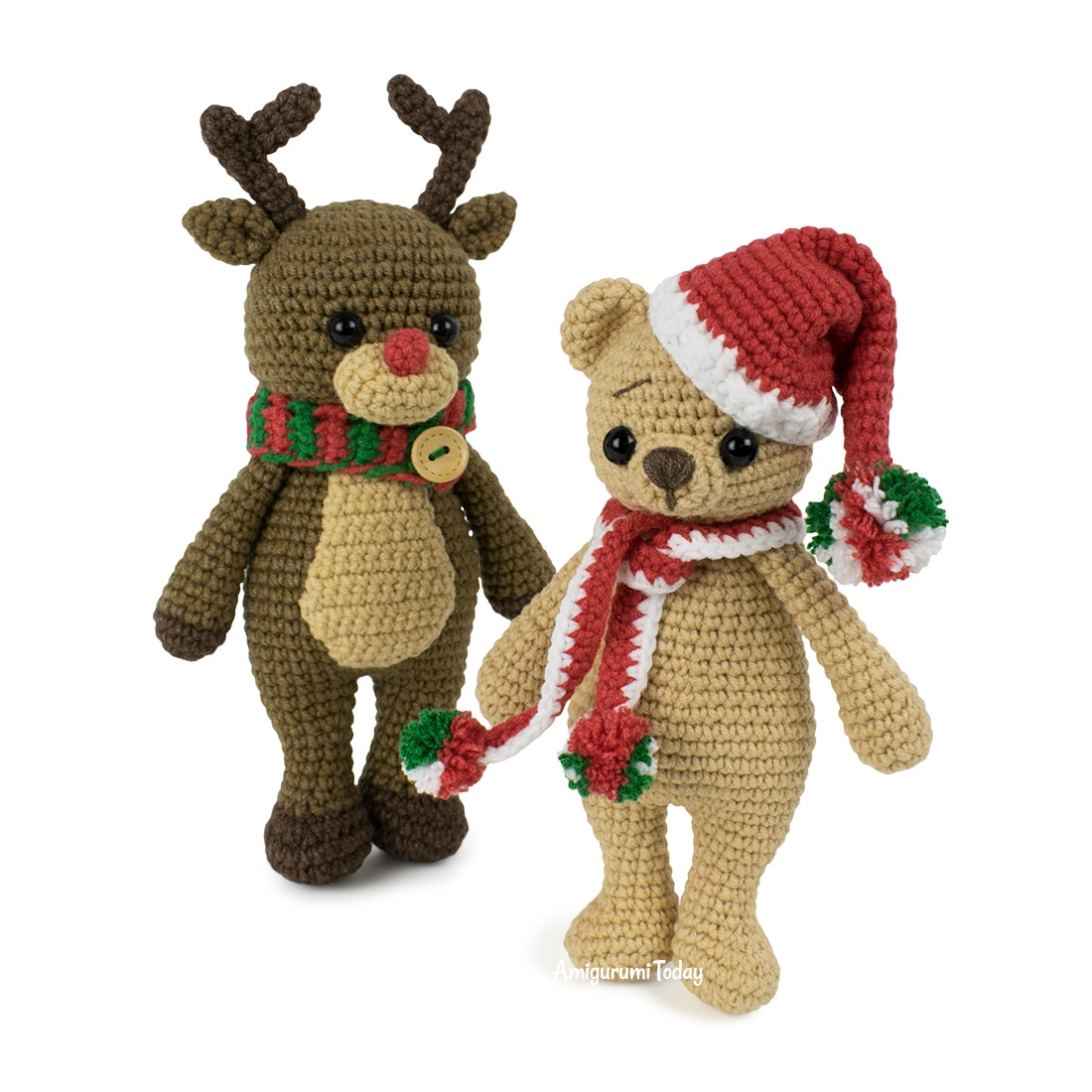 Crochet Christmas Hat and Scarf For Mouse | 1100x1100