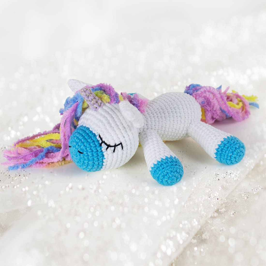 Free Crochet Unicorn Pattern - Red Ted Art - Make crafting with ... | 1100x1100