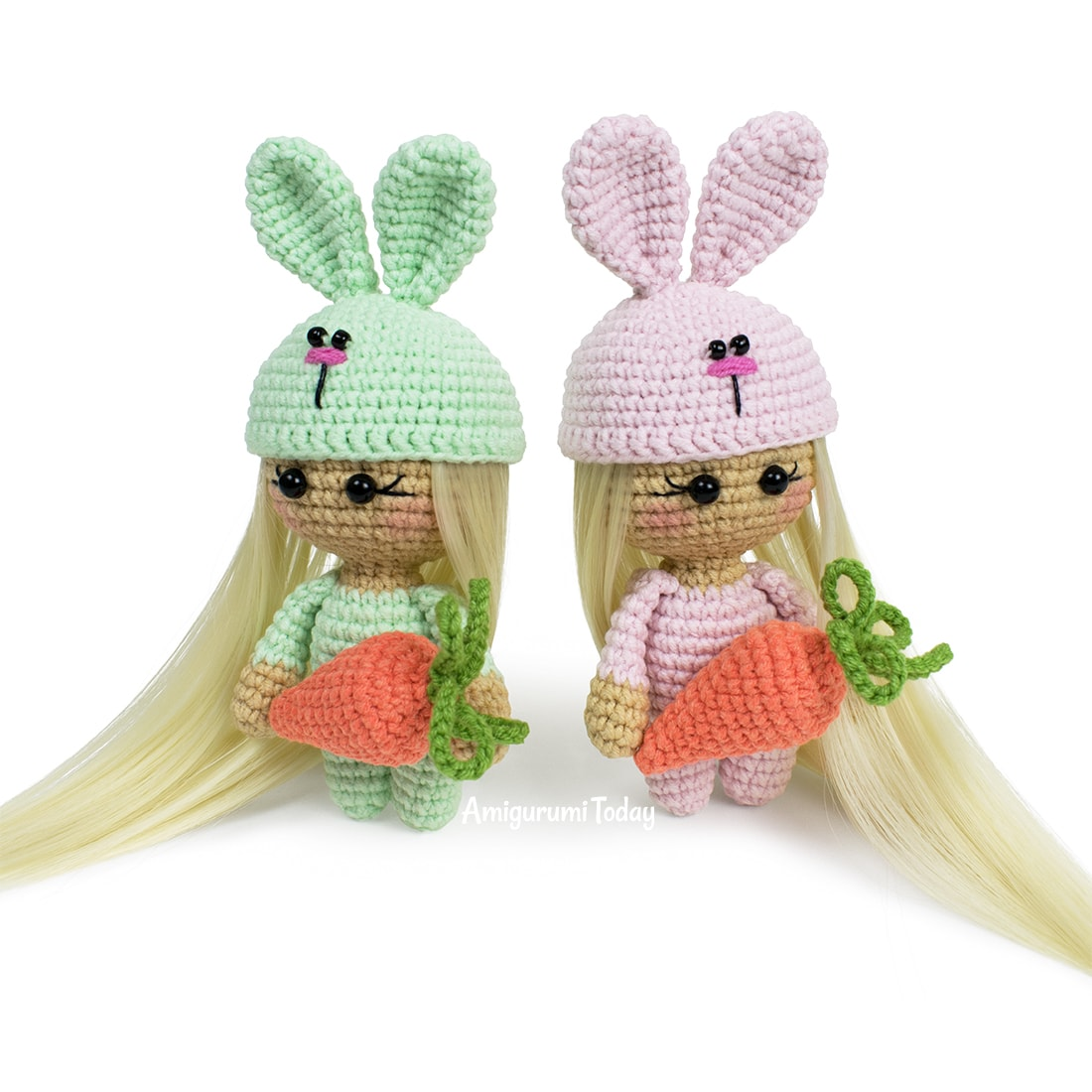 Free Easter Bunny Doll crochet pattern by Amigurumi Today