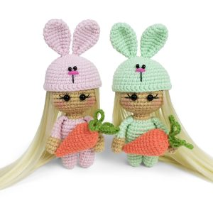 Free amigurumi bunny doll crochet patterns by Amigurumi Today