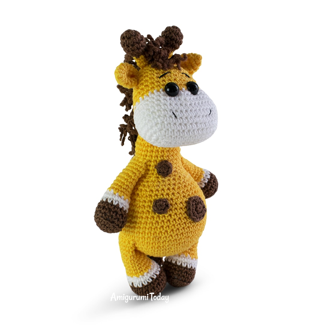 Free giraffe crochet pattern by Amigurumi Today
