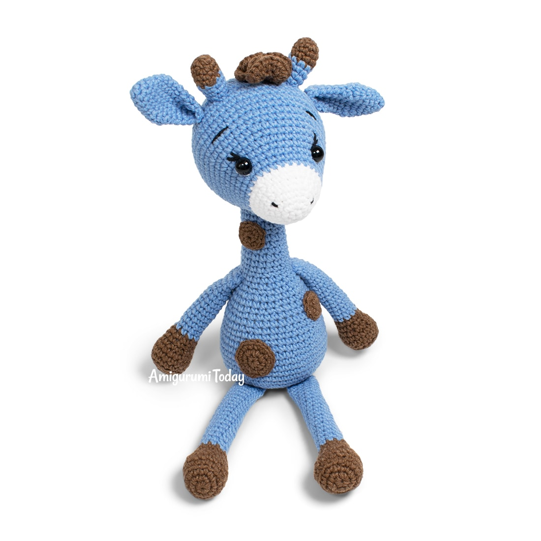 Crochet Blue Giraffe amigurumi pattern by Amigurumi Today