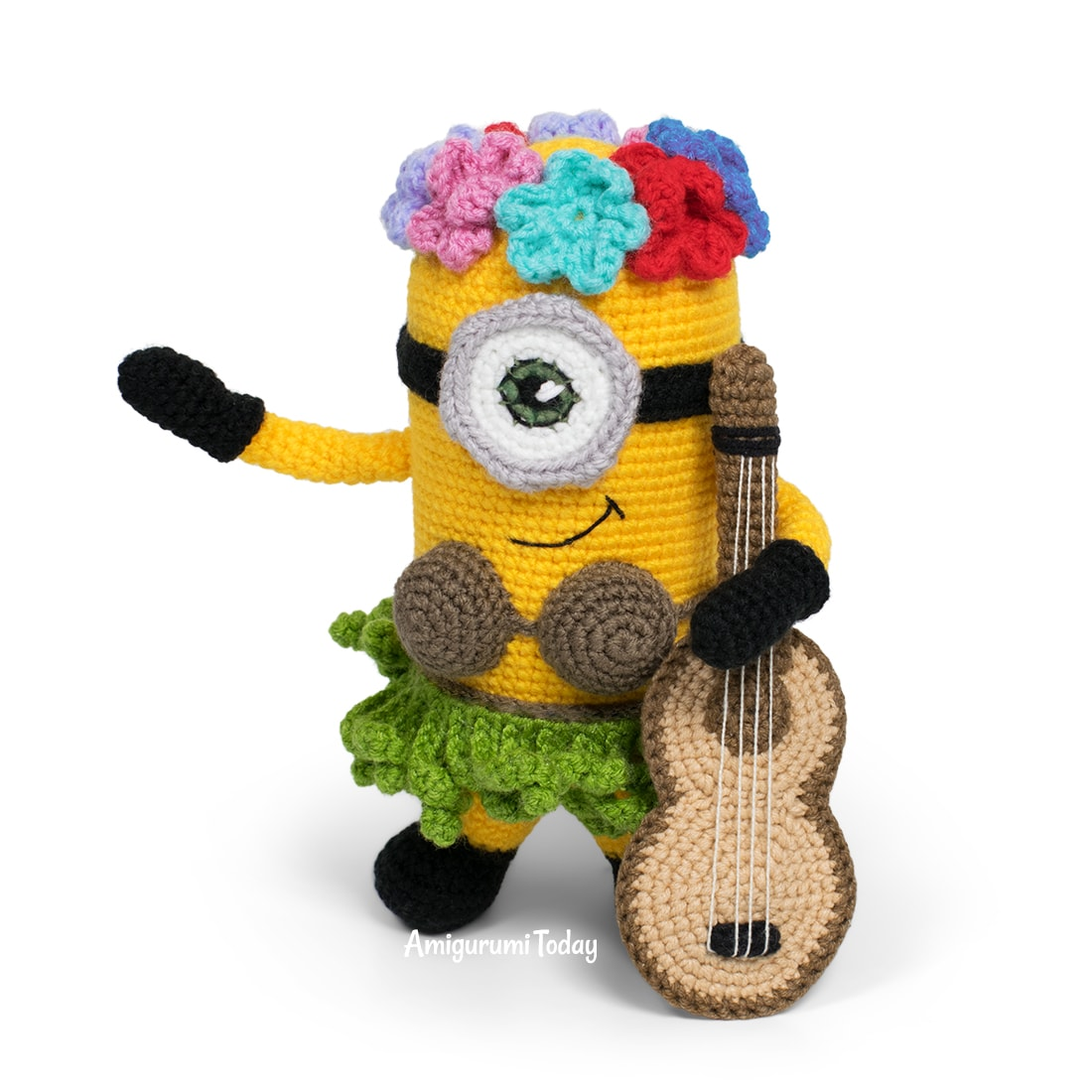 Free Hawaiian Minion Crochet Pattern by Amigurumi Today