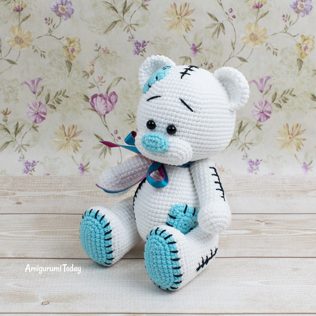 Free Teddy Bear amigurumi pattern designed by Amigurumi Today