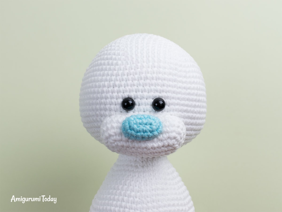 Free Teddy Bear crochet pattern - Nose and muzzle