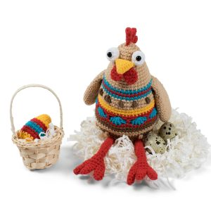 Free amigurumi Easter chicken crochet pattern designed by Amigurumi Today