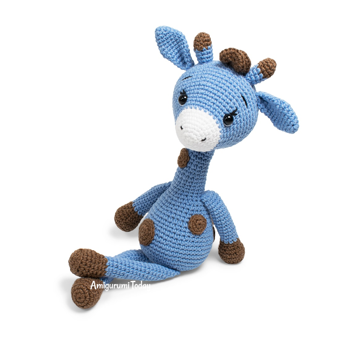 Free crochet Blue Giraffe amigurumi pattern by Amigurumi Today