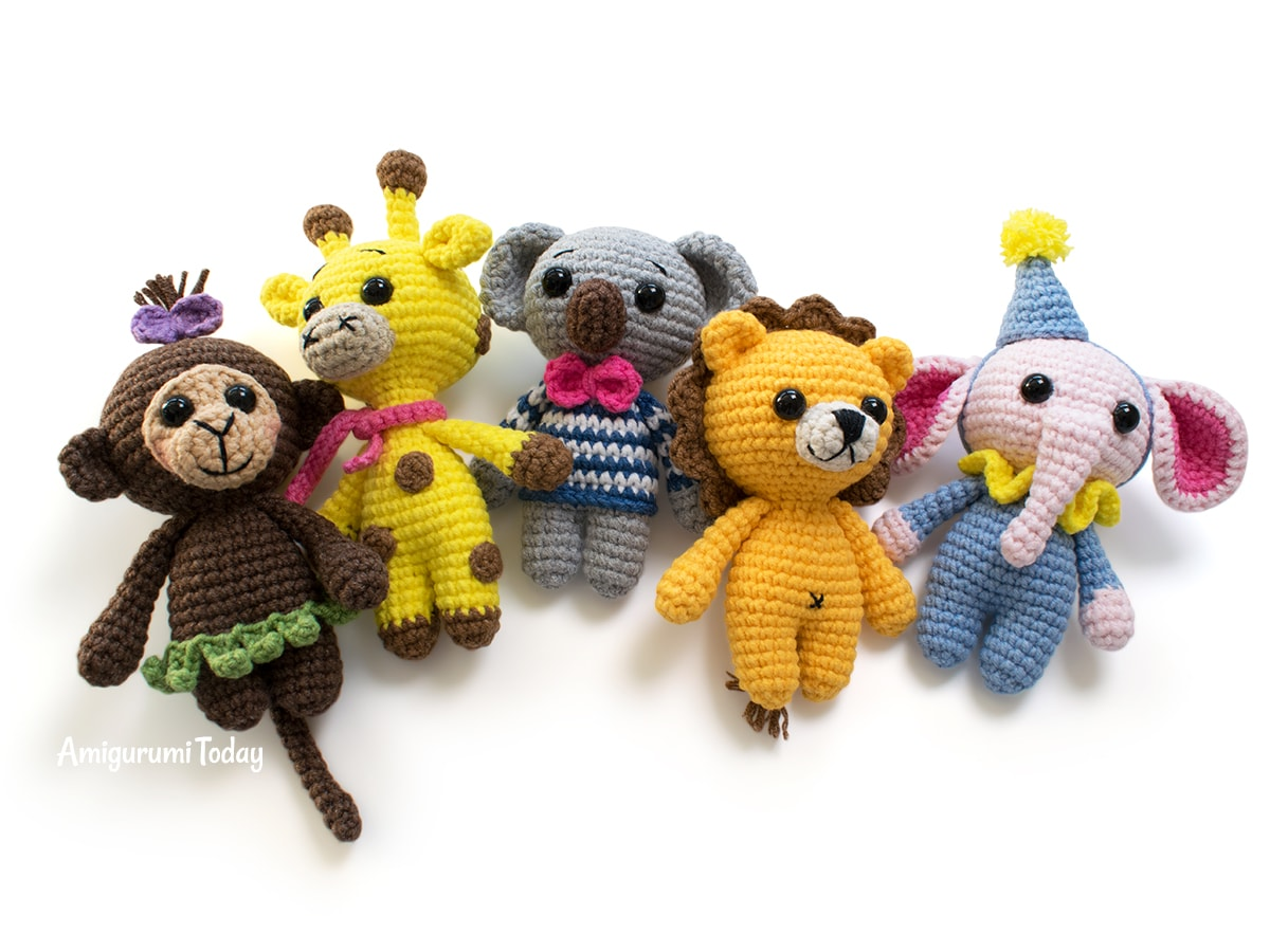 Amigurumi tiny koala crochet pattern - Free tiny crochet animal patterns