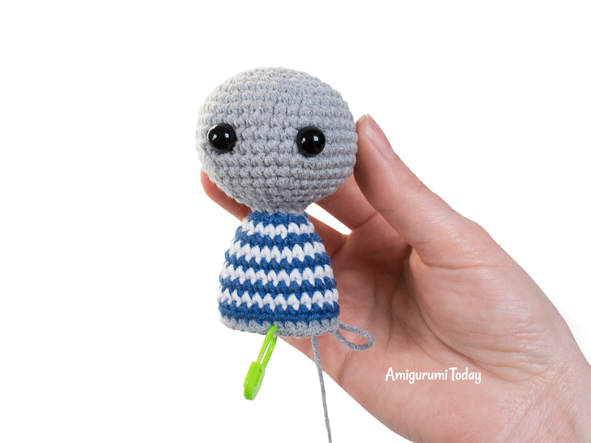 Amigurumi tiny koala crochet pattern - Head and body