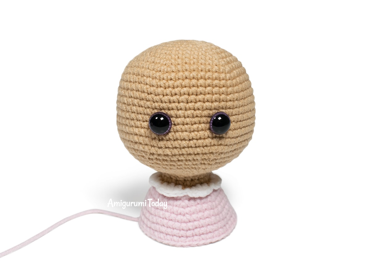 Free Lolli Bunny crochet pattern - Head