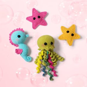 Free amigurumi starfish crochet patterns designed by Amigurumi Today