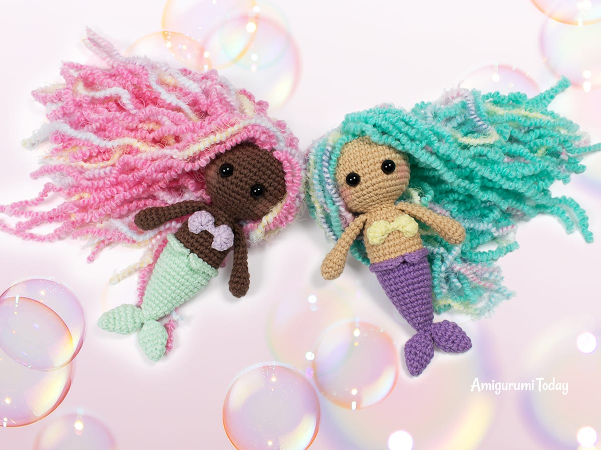 Little amigurumi mermaid crochet pattern