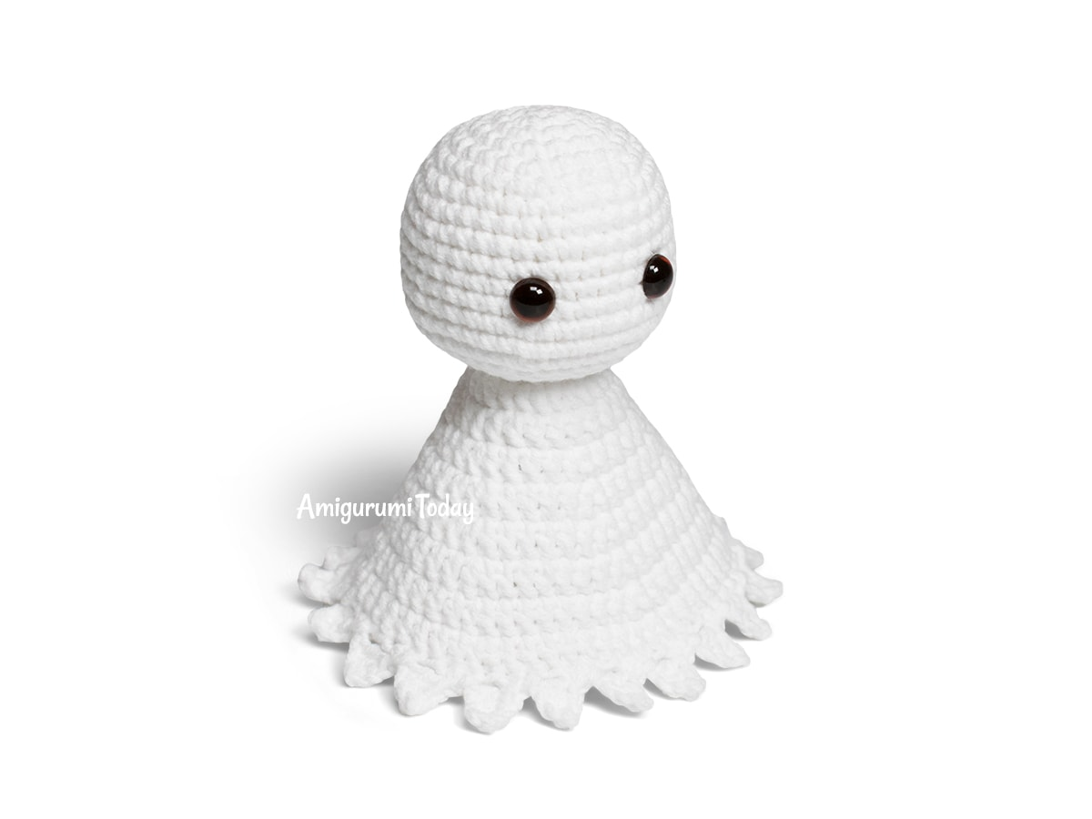 Cuddle Me Amigurumi Ghost crochet pattern - Head and sheet