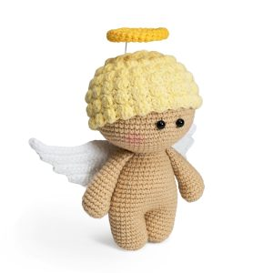 Free crochet angel amigurumi pattern designed by Amigurumi Today